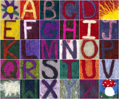 sewn letters